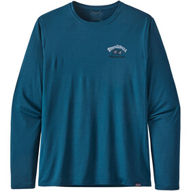 Patagonia Cap Cool Daily Graphic LS Shirt Men protect the pillows/crater blue x-dye